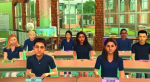 Virtual class: image shows secondary school class