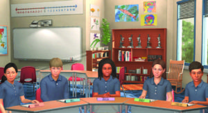 Virtual class: image shows primary school class