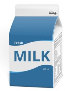 The image shows a carton. The writing on the carton reads, Fresh Milk, 500 ml.